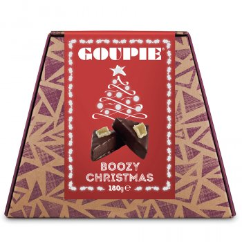 Goupie Boozy Christmas Chocolates - 180g