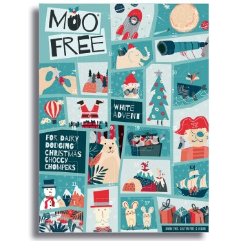 Moo Free White Chocolate Advent Calendar - 70g