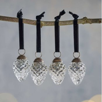 Harini Antique Silver Baubles - Set of 4