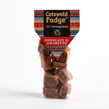 Cotswold Chocolate & Amaretto Fudge Bag - 150g