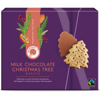 Traidcraft Milk Chocolate Christmas Tree Biscuits - 200g