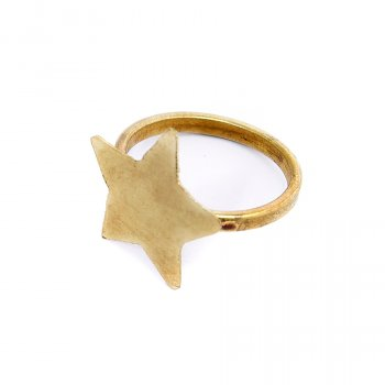 People Tree Brass Star Ring