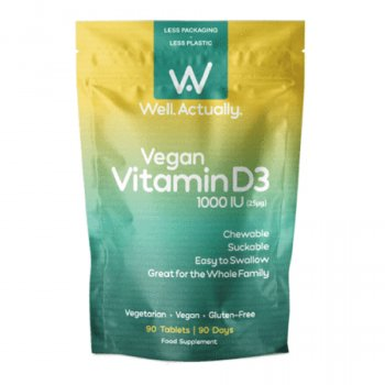 Well Actually Vegan Vitamin D3 - 90 Tablets