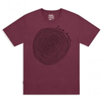 Love Trees Tee - Beaujolais