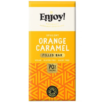 Enjoy Orange Caramel Filled Chocolate Bar - 70g