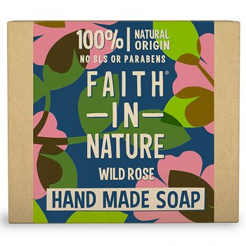 Faith in Nature Wild Rose Soap Bar - 100g