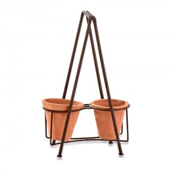 Jara Double Planter Stand