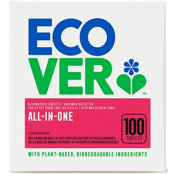 Ecover All-in-One Dishwasher Tablets XL - 100 Tablets