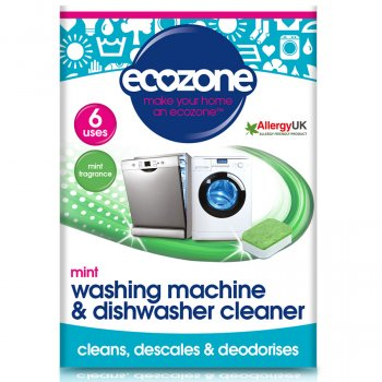 Ecozone Washing Machine & Dishwasher Cleaner - Mint - 6 Tablets