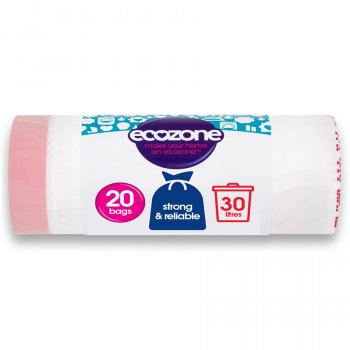 Ecozone Biodegradable Bin Liners - 30L - Roll of 20