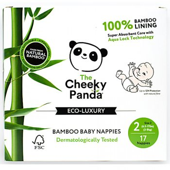 The Cheeky Panda Bamboo Baby Nappies - Size 2 - Pack of 17