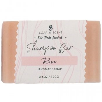 Fair Trade Solid Shampoo Bar - Rose - 100g