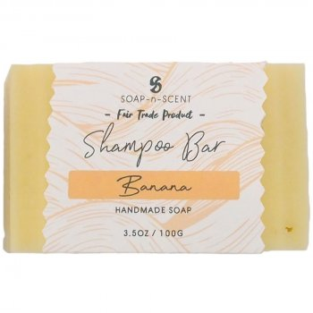 Fair Trade Solid Shampoo Bar - Banana - 100g