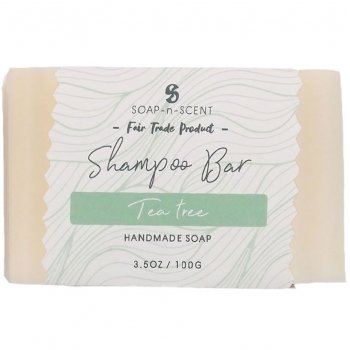 Fair Trade Solid Shampoo Bar - Tea Tree - 100g