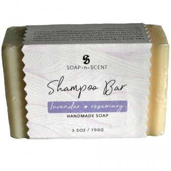 Fair Trade Solid Shampoo Bar - Lavender & Rosemary - 100g