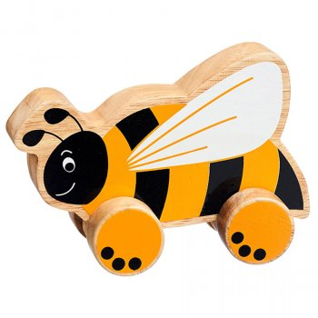 Lanka Kade Wooden Bee Push Along Toy