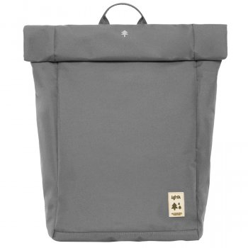 Lefrik Roll Top Recycled Backpack - Grey