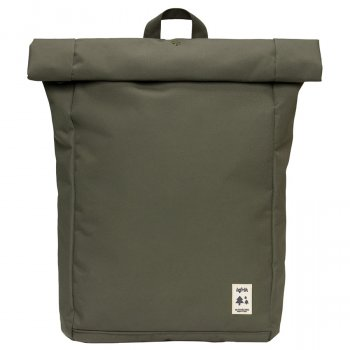 Lefrik Roll Top Recycled Backpack - Olive