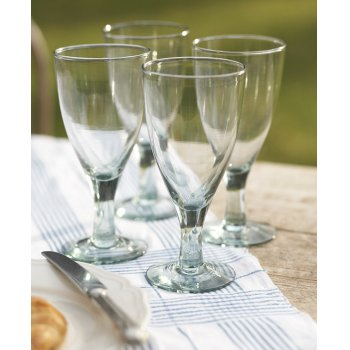 Recycled Large Wine Glasses - Set of 4