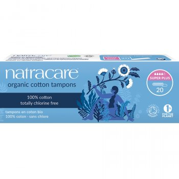 Natracare Organic Cotton Tampons - Super Plus - 20