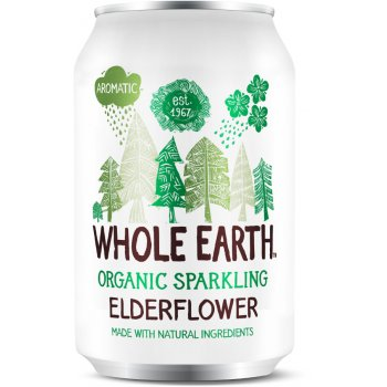 Whole Earth Organic Sparkling Elderflower 330ml