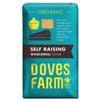 Doves Farm Organic Wholemeal Self Raising Flour - 1kg