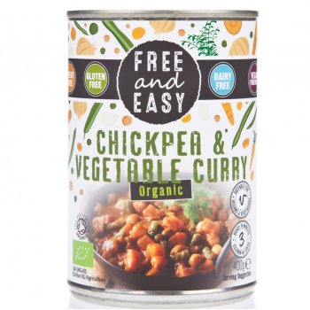 Free & Easy Chick Pea & Vegetable Curry 400g