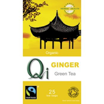 QI Organic Green Tea with Ginger x 25 bags