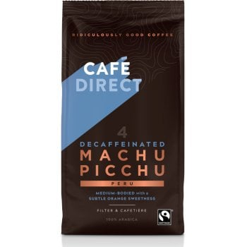 Cafedirect Machu Picchu Decaffeinated Filter and Cafetiere Coffee - 227g