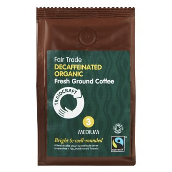 Traidcraft Organic & Fairtrade Medium Roast Decaff Ground Coffee - 227g