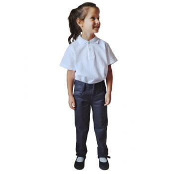 Girls Regular Fit Trousers - Navy - 11yrs Plus