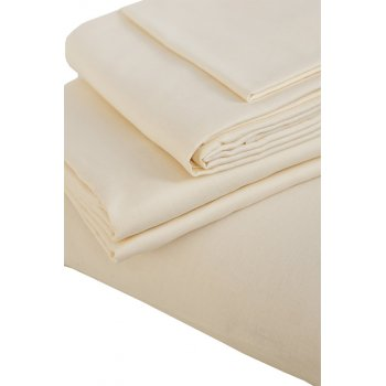 The Flax Sack Organic Linen Duvet Cover Set - Oyster White - Double