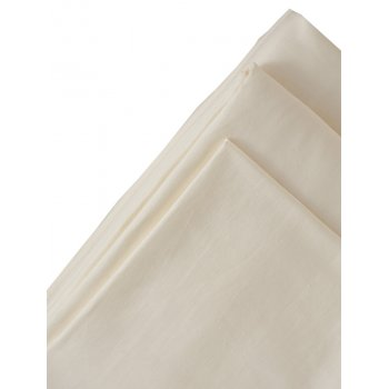 The Flax Sack Organic Linen Flat Sheet - Oyster White - Double