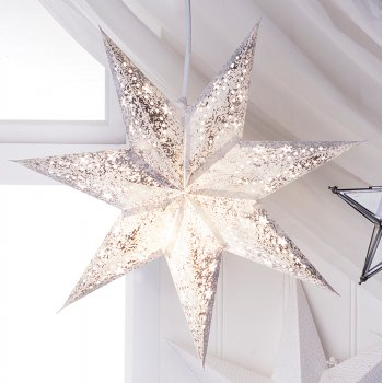 Mini 7 Point Dotty Floral Star Decoration