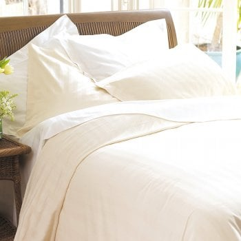 Ecru Double Fitted sheet