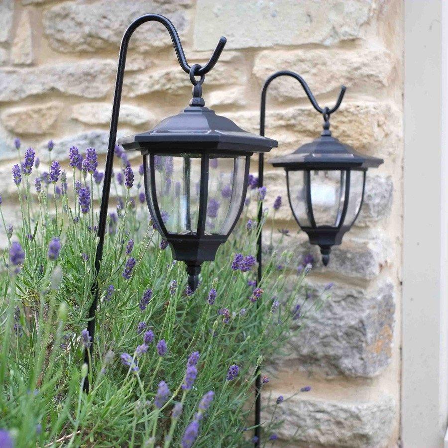 Solar Powered Garden Lights Lanterns With Crooks Designs
