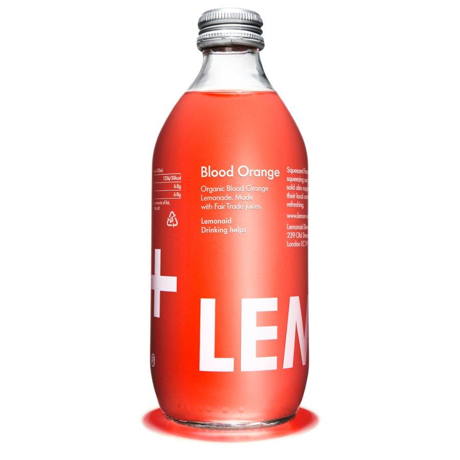 ... Organic & Fairtrade Blood Orange Drink - 330ml - Lemonaid Beverages