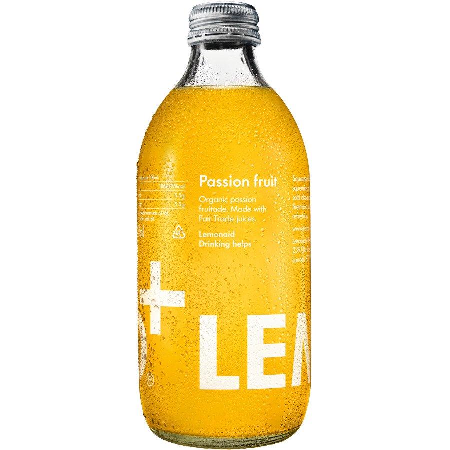 LemonAid - Organic & Fairtrade Passion Fruit Drink - 330ml ...