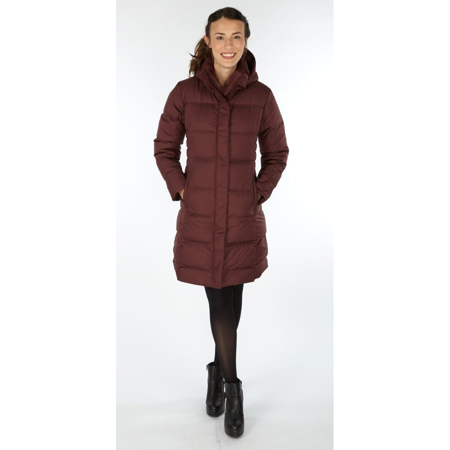 Patagonia Womens Down With It Parka - Dark Ruby - Patagonia
