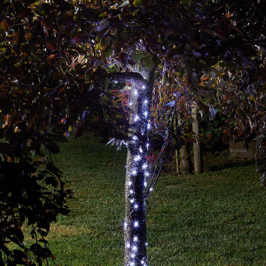 Solar Powered Cool White Firefly String Lights