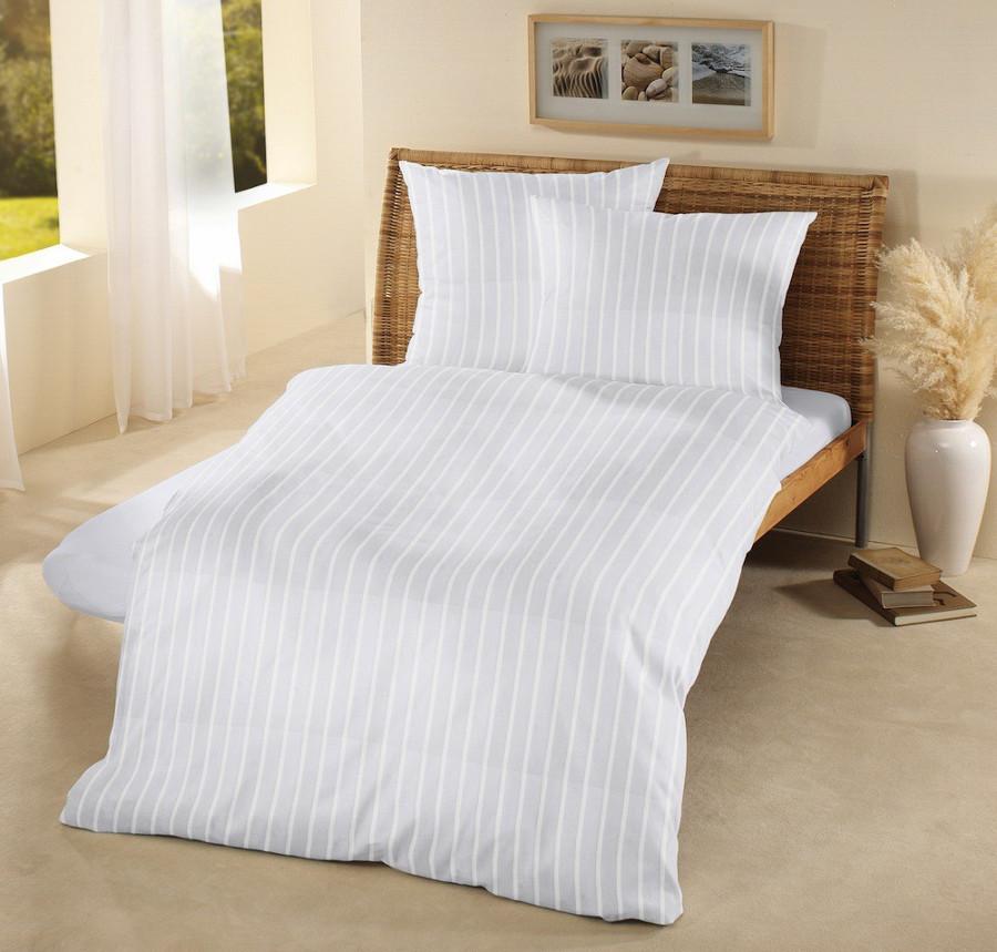 Fair Trade & Organic Satin Stripe Duvet Cover-Super King
